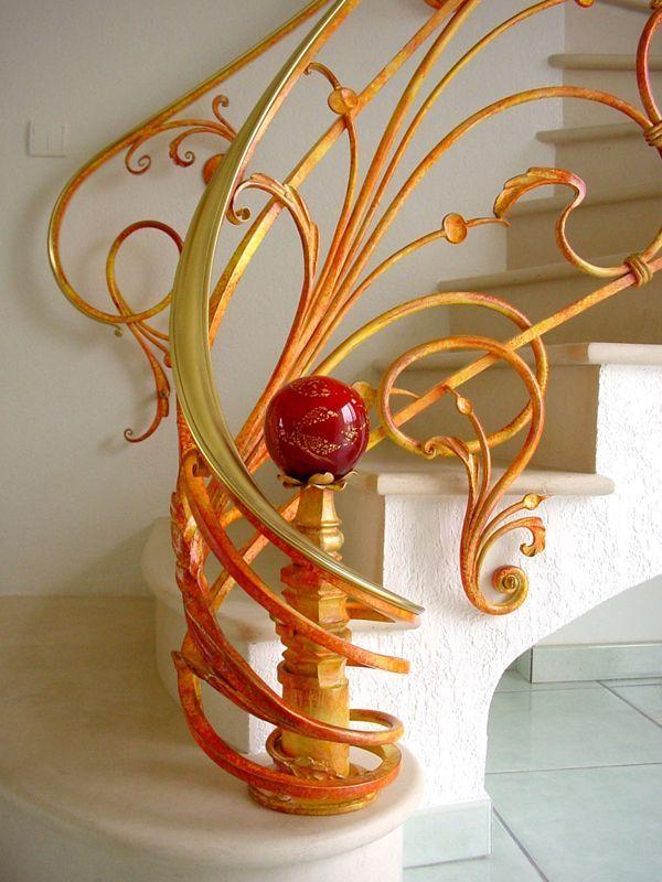 HappyModern.RU   Кованые перила для лестниц (45 фото): мелодия, застывшая в металле   http://happymodern.ru