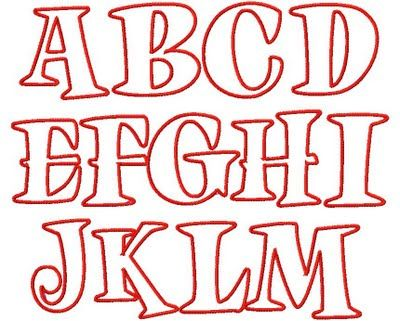 Free Number Fonts | Trucks and Tutus Boutique: NEW Applique ALPHABET and NUMBER Choices!