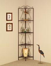 Новый коричневый метал уголок etagere 4 полка стойка для растений дома Декор дисплей хранения