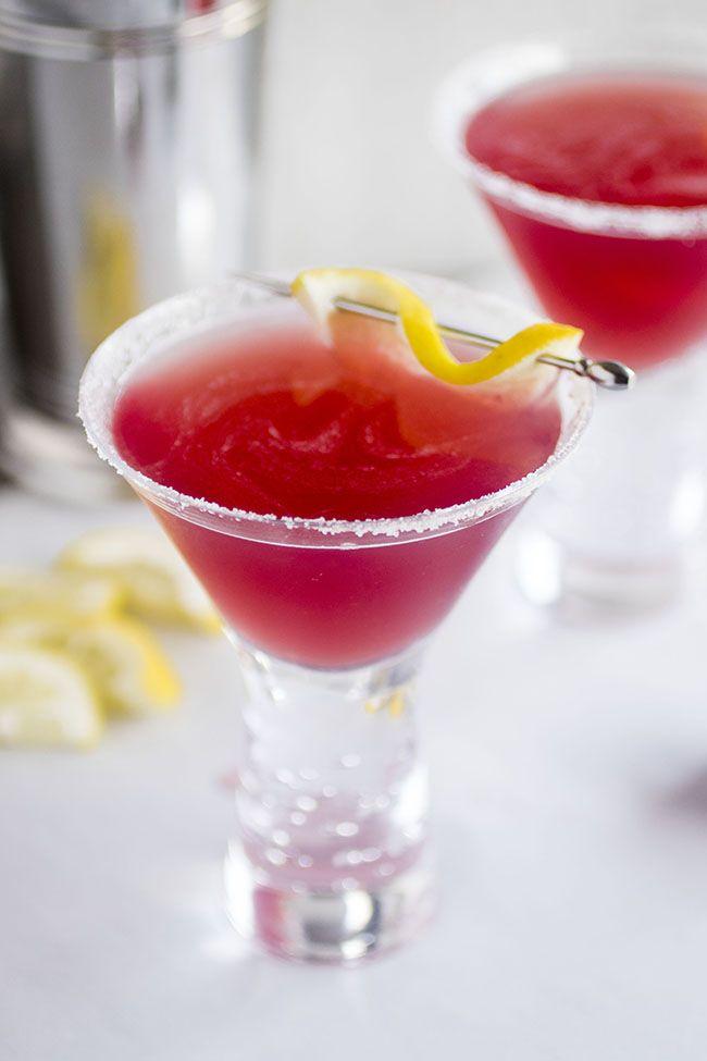 ... simple lemon drop recipe with a bit of cranberry raspberry juice takes
