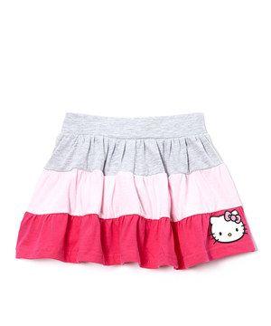 Look at this #zulilyfind! Blue & Pink Hello Kitty Skirt - Girls by Hello Kitty #zulilyfinds