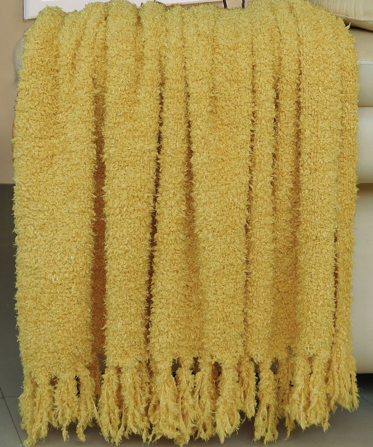 Fluffy Knitted Throws Mimosa Throw Blanket Throw
