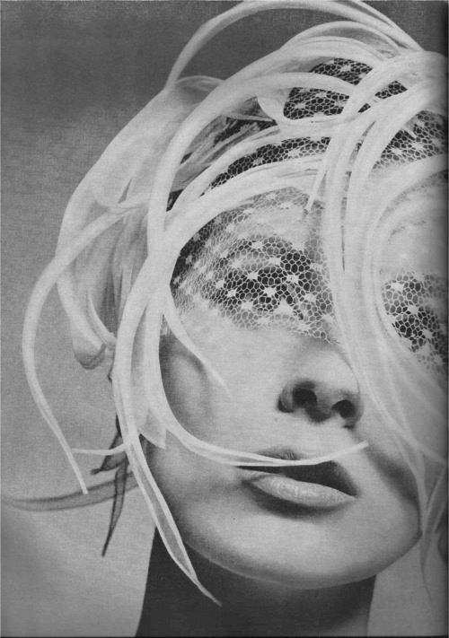 suzy parker in harpers bazaar, wearing a little feathery hat (hopefully by lily dache) and photographed by avedon