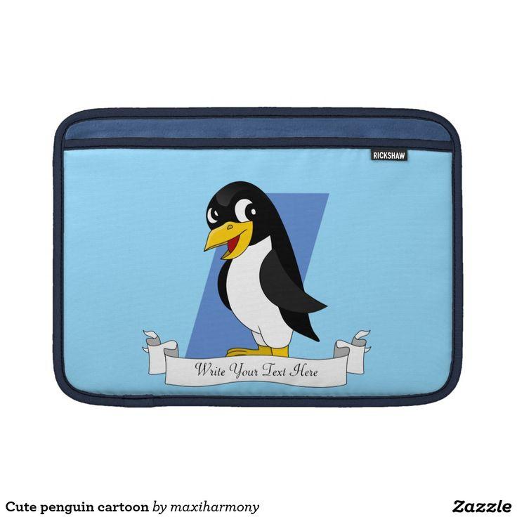 Cute penguin cartoon MacBook air sleeve