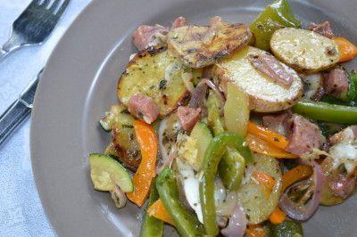 Italiaanse aardappelschotel  alles in één pan