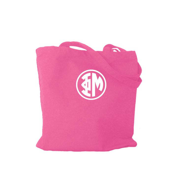 Phi Mu Bag . Greek Monogram