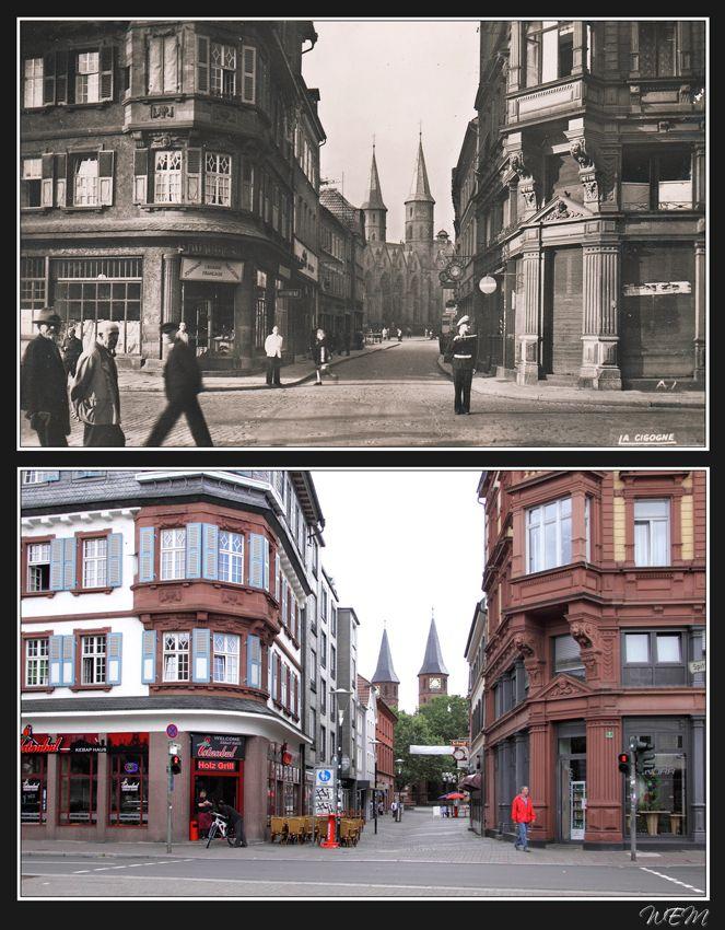 Kaiserslautern einst und heute - Untere Marktstraße