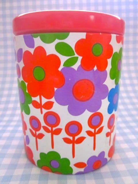 Vintage French 1970s Stem Flowers Tin by Pommedejour on Etsy, $34.00