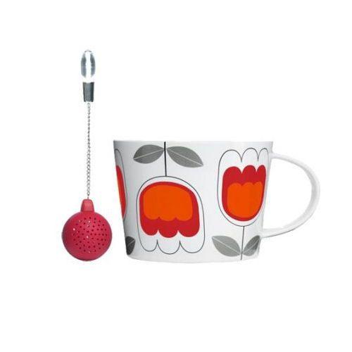 Tulppaani teesetti http://lahjaopas.info/lahjat/teesetti-tulppaani/ Raikkaan värinen Tulppaani-teesetti on monikäyttöinen pakkaus. Muki ja haudutin on pakattu hienoon, kuvioituun ja kannelliseen peltipurkkiin, jossa voi säilyttää vaikka teetä.