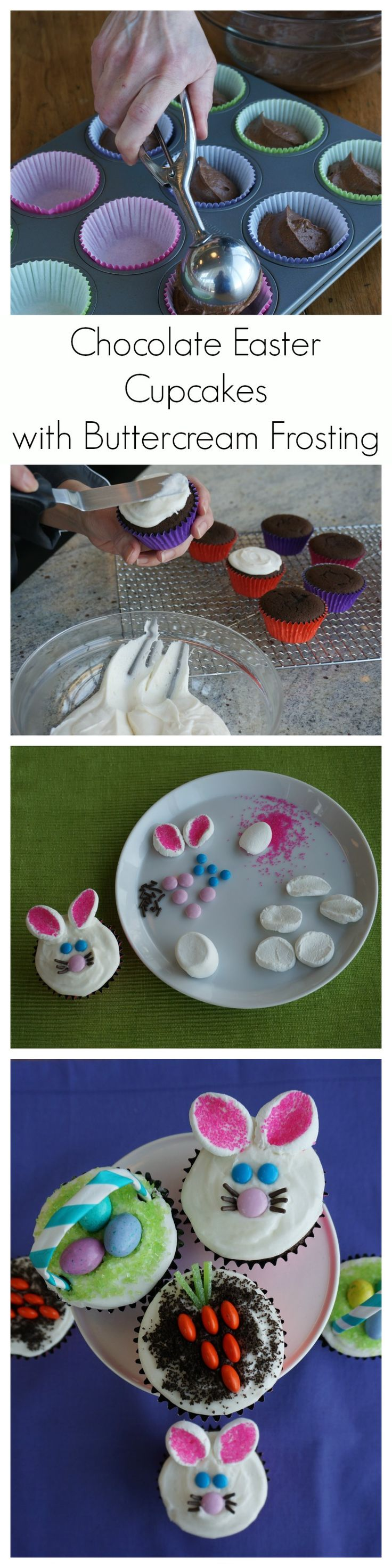 Try our most popular chocolate cupcakes with buttercream frosting. With our great decorating options, they are an easy and fun Easter project to do with the kids.