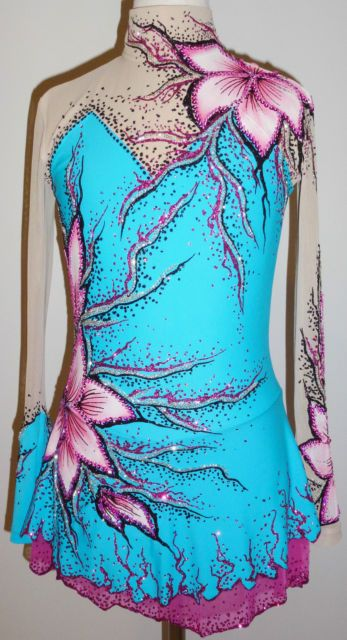 Ice Skating Dress/Rhythmic Gymnastics Leotard/Acro/Baton Twirling costume/Dance | eBay
