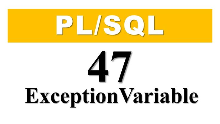 PL/SQL tutorial 47: How to declare user-define exception using a EXCEPTI...