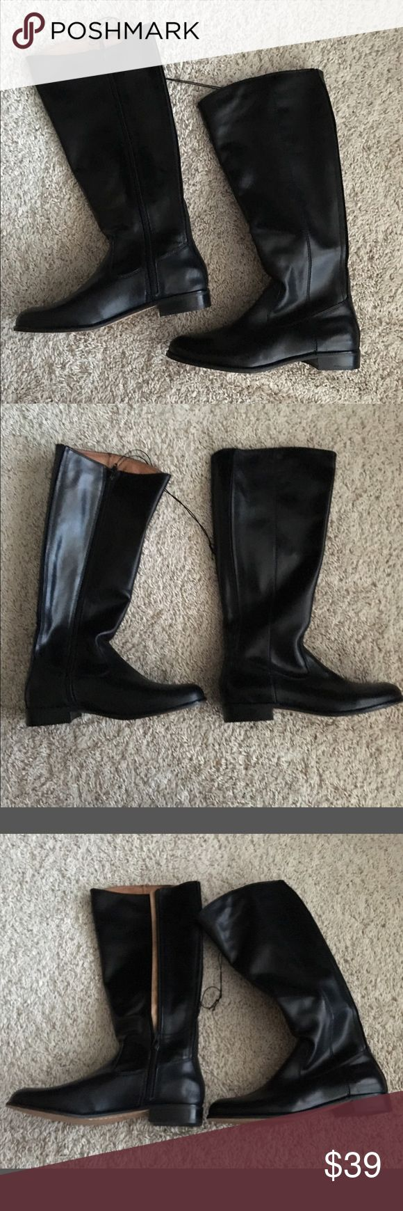 $39❤️Brand New Black Kenneth Cole Knee High Boots ❤️Closeout Sale on all Boots!  This listing is for a pair of Sexy KENNETH COLE NEW YORK Black Leather Knee High Boots.  This soft but structured premium leather boot features a padded foot bed for superior comfort. Pair them with jeans, leggings, skirts or dresses for a fun, fashion forward chic look. 