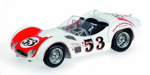 Minichamps Maserati Tipo 61 Bill Krause White W/ Red Los Angeles Times Winner Riverside GP 1960 $126.02