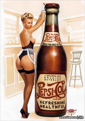 Playboy Pin up ~ Pepsi-Cola..Return of the Cafe Racers!