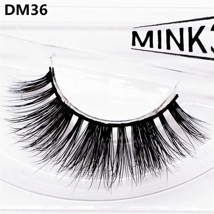 False Eyelashes 3D Mink Hair Hand-made Thick Messy Curling Sexy Natural Long Charming Big Eyes Make-up Extension Tools DM36 #Affiliate