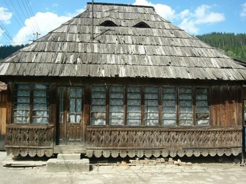 Wooden farmhouse, built on stilts