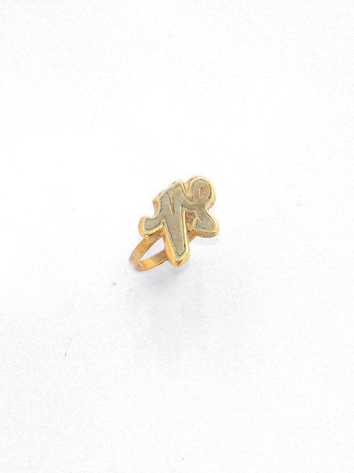 Capricorn Zodiac Ring -Horoscope Ring - Astrological Sign Ring - Capricorn Birthday Gift -  Handmade Ring - All Size Ring - Zodiac Gold Ring by profoundgarden on Etsy