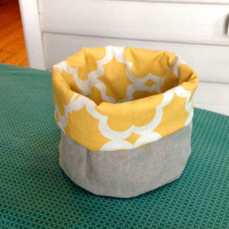 Fabric Basket Tutorial... make a basket with a rounded bottom ~ Willow & Stitch                                                                                                                                                                                 More