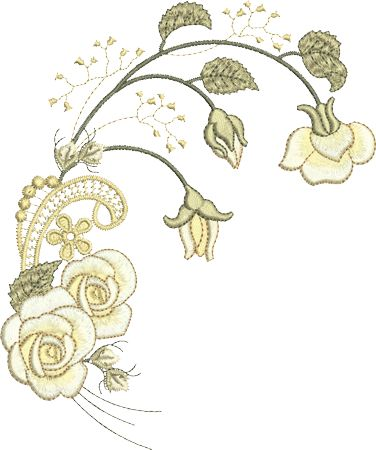 Sue Box Creations | Download Embroidery Designs | 29 - Rose Spray