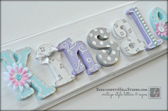 Custom name plaque  made to order wall by SerendipityHillStudio.com
