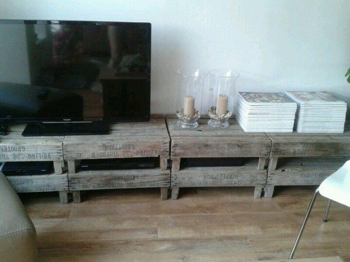 Tv Meubel Fruitkisten 2016
