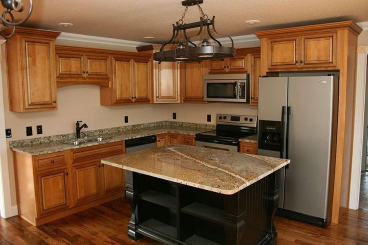 10X10 Kitchen Cabinets with Island, kitchen design for small ...                                                                                                                                                                                 More