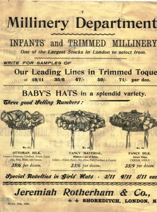 A Victorian Millinery Catalogue from 1896.  Mad hatter disease, or mad hatter syndrome, is a commonly used name for hatmakers whose felting work involved prolonged exposure to mercury vapours.  By the turn of the 20th century, mercury poisoning among British hatters had become  quite rare.