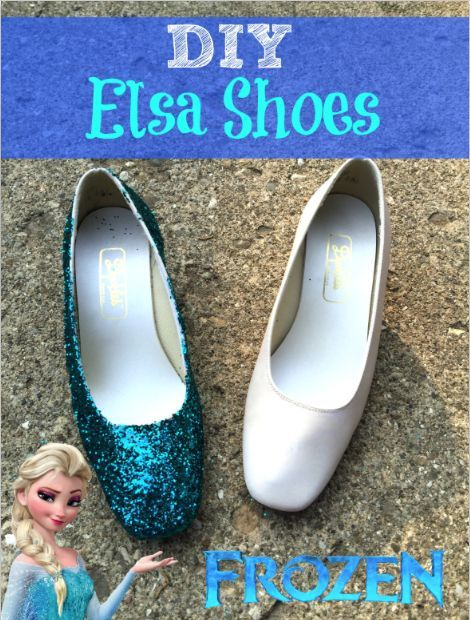 Here is a very quick and easy tutorial on how to make your very own pair of Disney Frozen Queen Elsas Shoes. These are the perfect touch to your Halloween costume, or wear them just because.