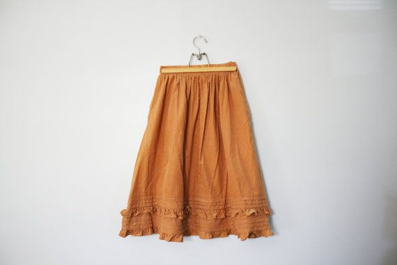 vintage 70s Autumn Caramel Brown Corduroy by littleveggievintage, $18.00