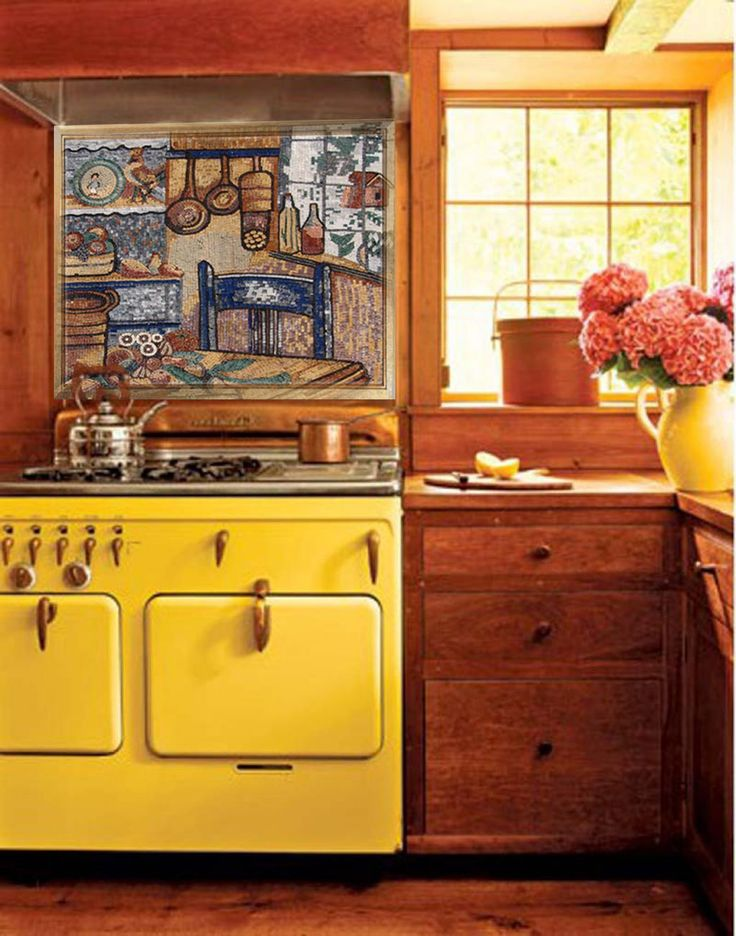 Kitchen Mosaic Backsplash | Mosaic Art for your Kitchen Stove | Buy Mosaic Art and Murals from Mozaico and Decorate your Homes!