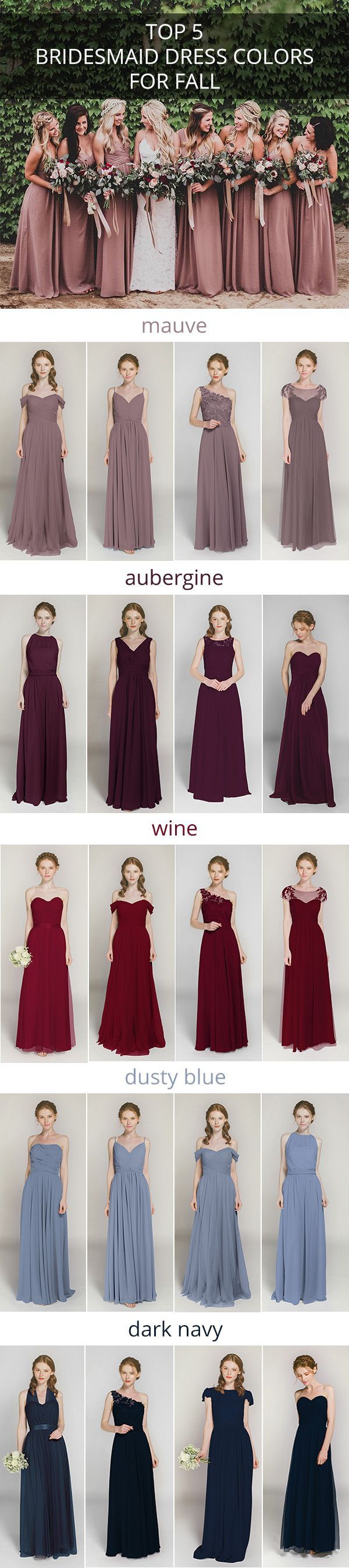 top 5 bridesmaid dress colors for fall weddings/Photo by @tyfrenchphoto