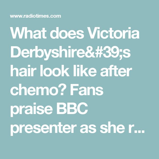 What does Victoria Derbyshire's hair look like after chemo? Fans praise BBC presenter as she removes her wig 12 months on from cancer treatment