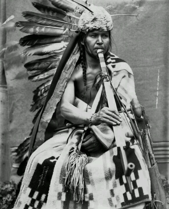 Black Eagle - Nez Perce 1900. Native American, indian, feathers, playing, outfit, awesome, beautiful, culture, male, man, vintage, photo b/w.