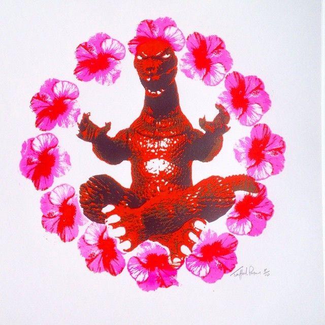 Zen Godzilla Red/Pink By Trafford Parsons