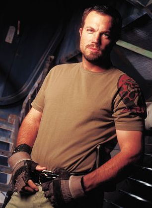 Jayne Cobb - Firefly (Adam Baldwin)were he unwed I would take him in an unladylike fashion - cuz he's pretty!