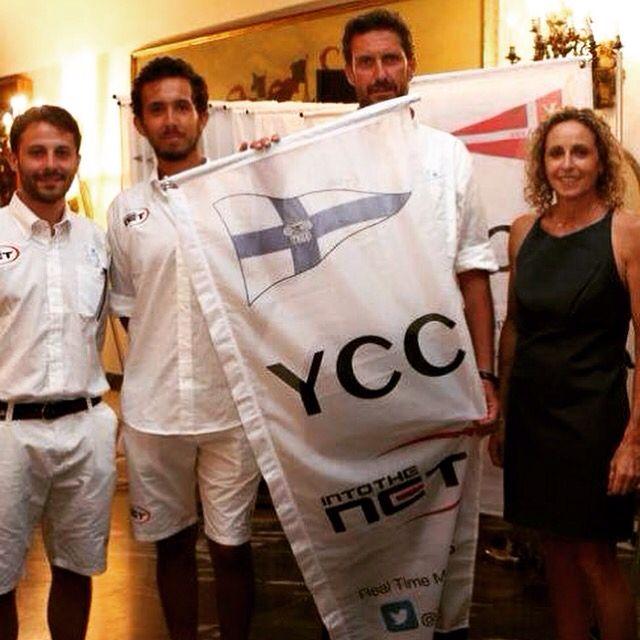 Il guidone dello #Yacht Club Capri alla Cena di Gala della Italian #Sailing Champioship 2015