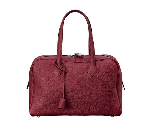 Victoria II Hermes tote bag (size 35) Ruby taurillon clemence ...