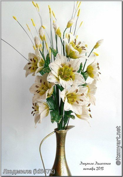 Шаг 17 - Букет Белых лилий