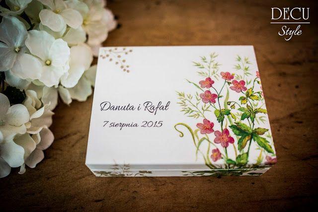 DECU Style - Decoupage blog: Pudełko na obrączki prosto z łąki...