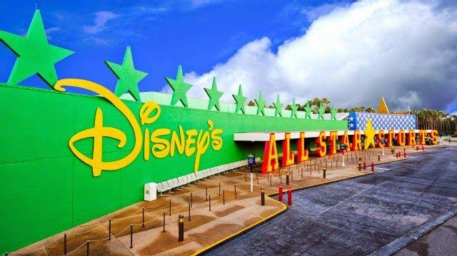 Na Disney: Hotéis no Complexo - Disney's All Star Sports Resort