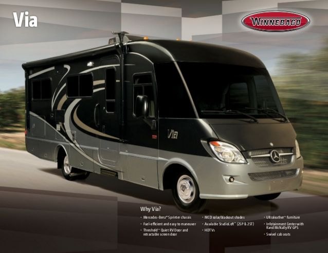 winnebago |  Winnebago Via Class A Motorhome This is how I would like to travel and see the USA. I can dream :)