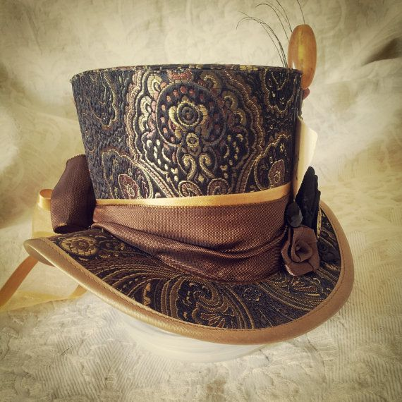Mad Hatter Alice in Wonderland Steampunk Hat di OohLaLaBoudoir