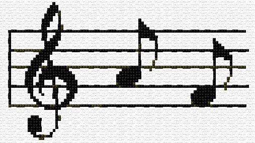 Cross Stitch | Notes xstitch Chart | Design
