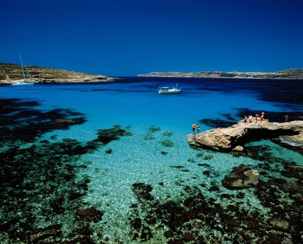 The Blue Lagoon is one of Malta's top tourist attractions. It's crystal clear waters are truly out of this world.
