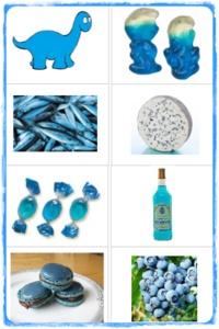 """Jeu d'association """"Pop mange de toutes les couleurs"""" (bleu)"""