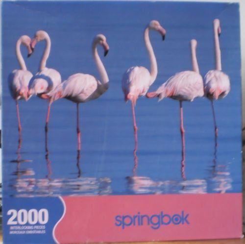 Springbok Flamingo Reflection Jigsaw Puzzle 2000 Piece – Friendly Faces