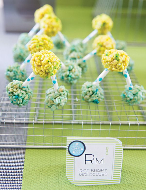 Cute & easy Rice Krispie treat molecules