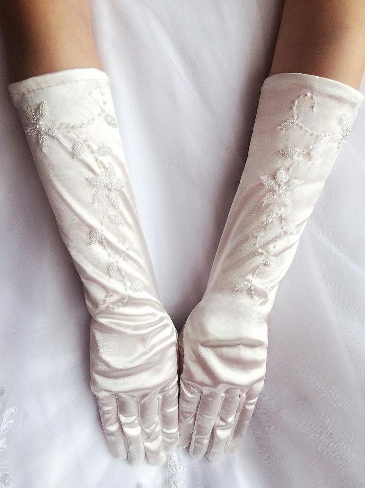 Barato Em Armazém Branco Marfim Abaixo Elbow Comprimento Dos Dedos Luvas De Noiva Completo Exquisite Frisados pérola Acessórios Do:
