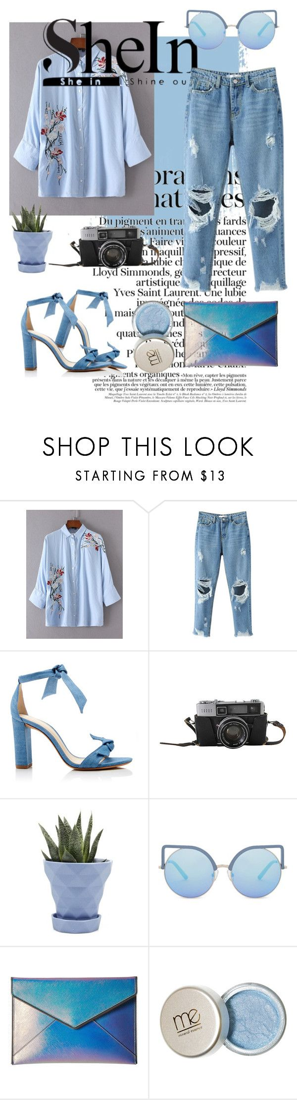 """""""Deep sea girl 💙💙"""" by viantiao ❤ liked on Polyvore featuring Alexandre Birman, Chive, Matthew Williamson and Rebecca Minkoff"""
